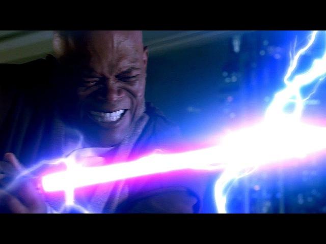 Канцлер Палпатин (Дарт Сидиус) против Мейса Винду - Звёздные войны. Эпизод 3: Мест ...