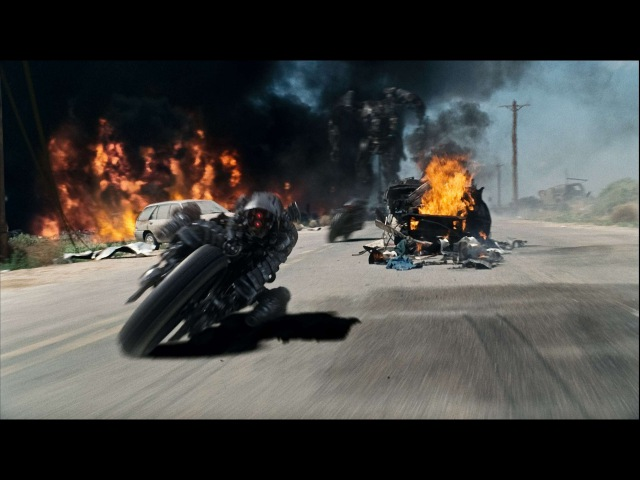 Жнец атакует людей. Терминатор. Погоня/Reaper attack people. Terminator. Chase