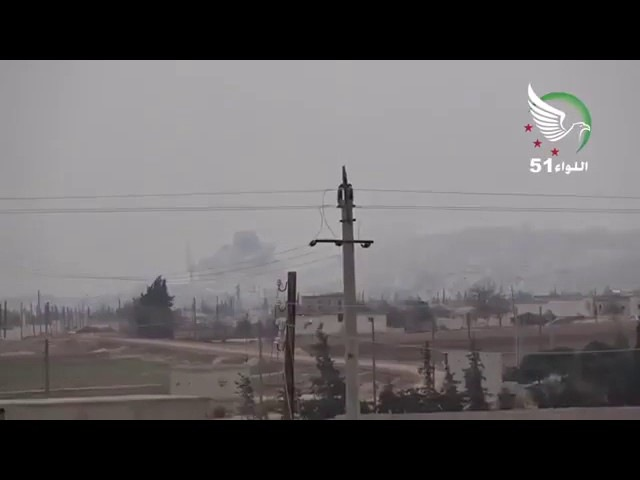 FıratKalkanı operasyonunda Elbab Akil tepesi ile Hastane noktalarının hava kuvvetlerimiz tarafından vurulma görüntü 28.12.2016