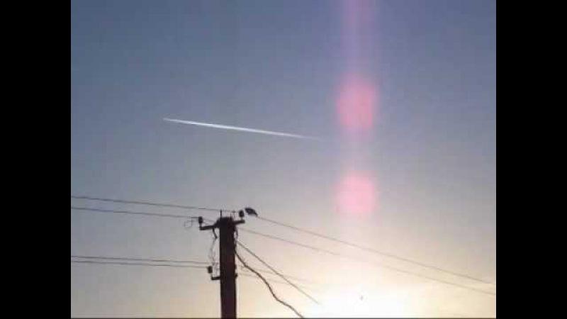 Смотрим в небо.. Химтрейлы в 4 часа утра. В распылении также участвует самый большой самолёт - Ан-225.