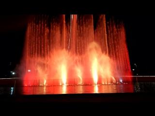Олимпийский парк, поющие фонтаны / Евгений Дога, вальс из к-ф Мой ласковый и нежный зверь
