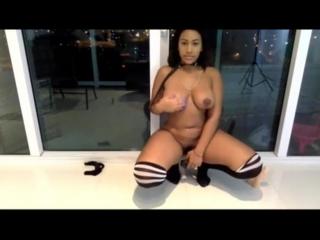 Katt Leya dildo fun HD - ebony black big ass butts booty tits boobs bbw pawg curvy mature milf