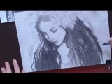 Как нарисовать портрет Сары Брайтман карандашом.