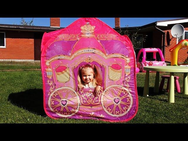 Принцесса Новая Карета и Замок Принцессы Киндер Сюрприз Disney Princess Play kinder surprise Toys