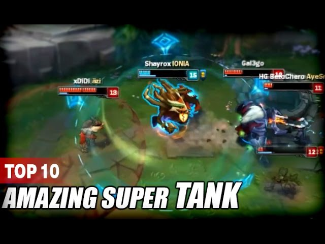 TOP 10 AMAZING SUPER TANK Unbelievable Moments (League of Legends)