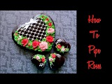 How to pipe icing roses. Beautiful heart cookie.