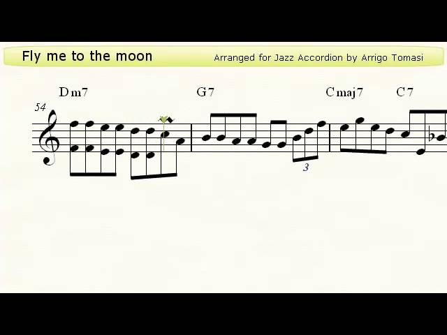 Fly me to the moon - Jazz Accordion Sheet Music