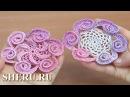 Урок вязания 145 Цветок крючком декоративный с навязками