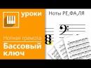 Нотная грамота за 15 минут урок 4 5 Ноты басового ключа НОВЫЙ