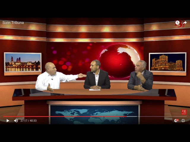 Kanal 13-Pənah Hüseyn (AXP sədri) və Hafiz Hacıyev (Müasir Müsavat partiyası) debatda - Sizin Tribuna
