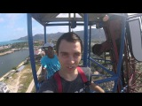 Bungy Jump from 100 meters into pool Thailand Samui