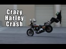 Crazy Harley Crash With Epic Save  Lands On Feet Like A Ninja