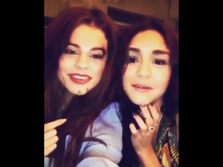@vanessahudgens: @selenagomez and i face swapped. i thought it would look more normal. we blame the lighting. 😳😝