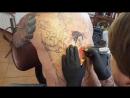 Тату На Спине. Венеция. Цена татуировки Магнум тату. Live