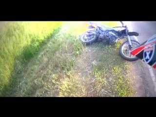 Moto crash,two camera.