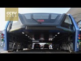 Footage: China's Transit Elevated Bus starts test run on road