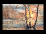 Watercolor Art with music Industrial Music Box - Kevin MacLeod   Dandelions MUSIC