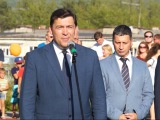 Евгений Куйвашев принял участие в открытии современного стадиона
