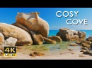 4K Cosy Cove - Gentle Lapping Waves - Relaxing Sea/ Ocean Sounds - Ultra HD Nature Video - 2160p