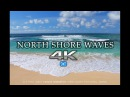 4K NORTH SHORE WAVES Oahu Endless Video Screensaver Nature Relaxation™ Hawaii