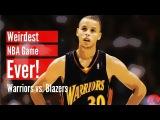 The Weirdest NBA Game Ever! (Warriors vs. Blazers)