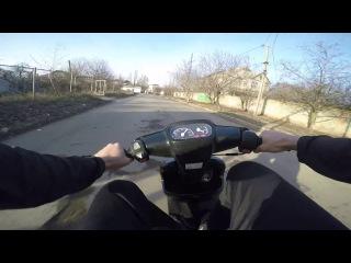 Yamaha Jog Aprio.80+км/ч. 100% сток.Как должен ехать правильно настроенный скутер.