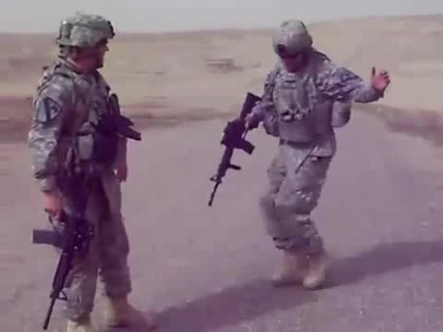 American Soldiers C-Walk