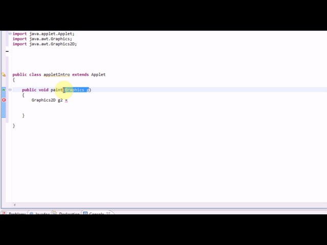 Learning Java: Part 11: Introduction to Applets/Graphics