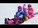 Дети катаются с горки зимой! Приколы и неудачи на горках!