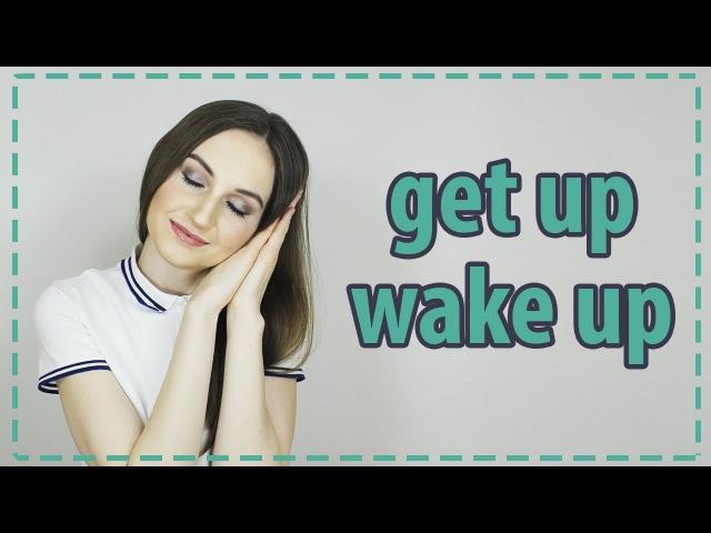 Разница между GET UP и WAKE UP 💤 - English Spot