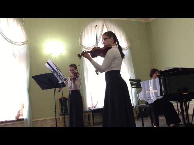 А Вивальди Концерт B due 1 ч Тесёлкина Мария и Егорина Мария ШИ г Выборга