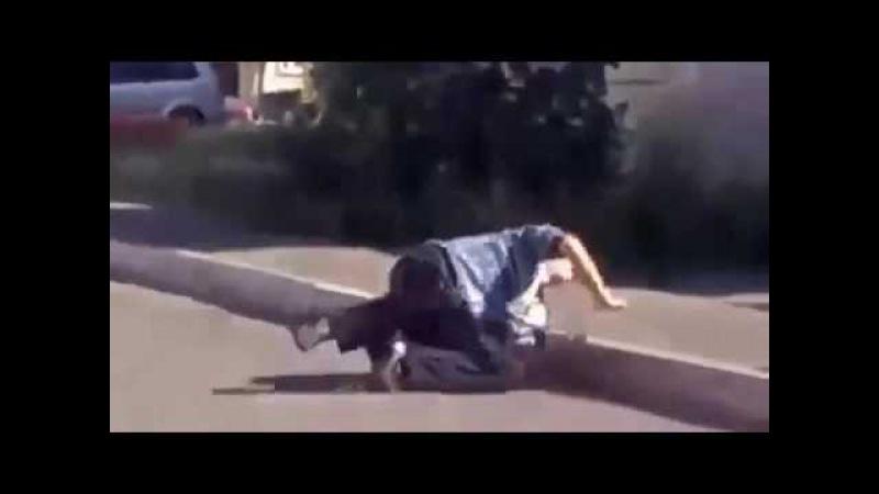 Staying alive - russia - наркоман обнюхался бензина