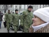 Киев. 20 февраля, 2017. Батальон ОУН закидал камнями офис Ахметова.