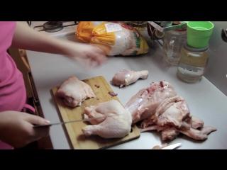 Как быстро и безопасно разделать курицу) Как это делаю я.