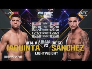 UFC Fight Night - 108 IAQUINTA-SANCHEZ Полный бой