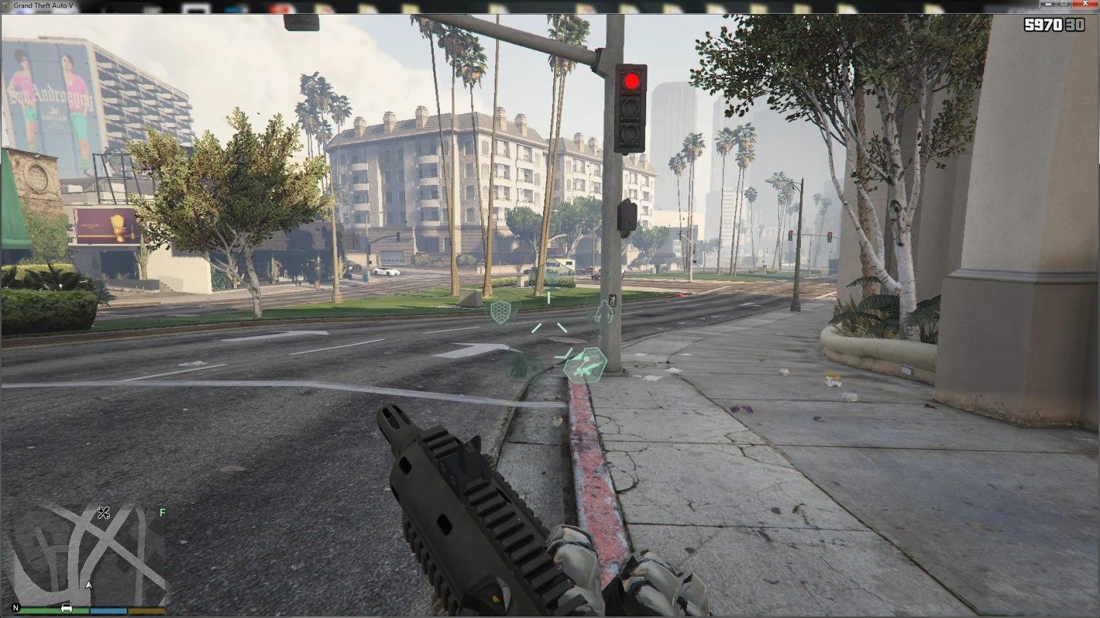 GTA V - Crysis script mod для GTA V - Скриншот 3