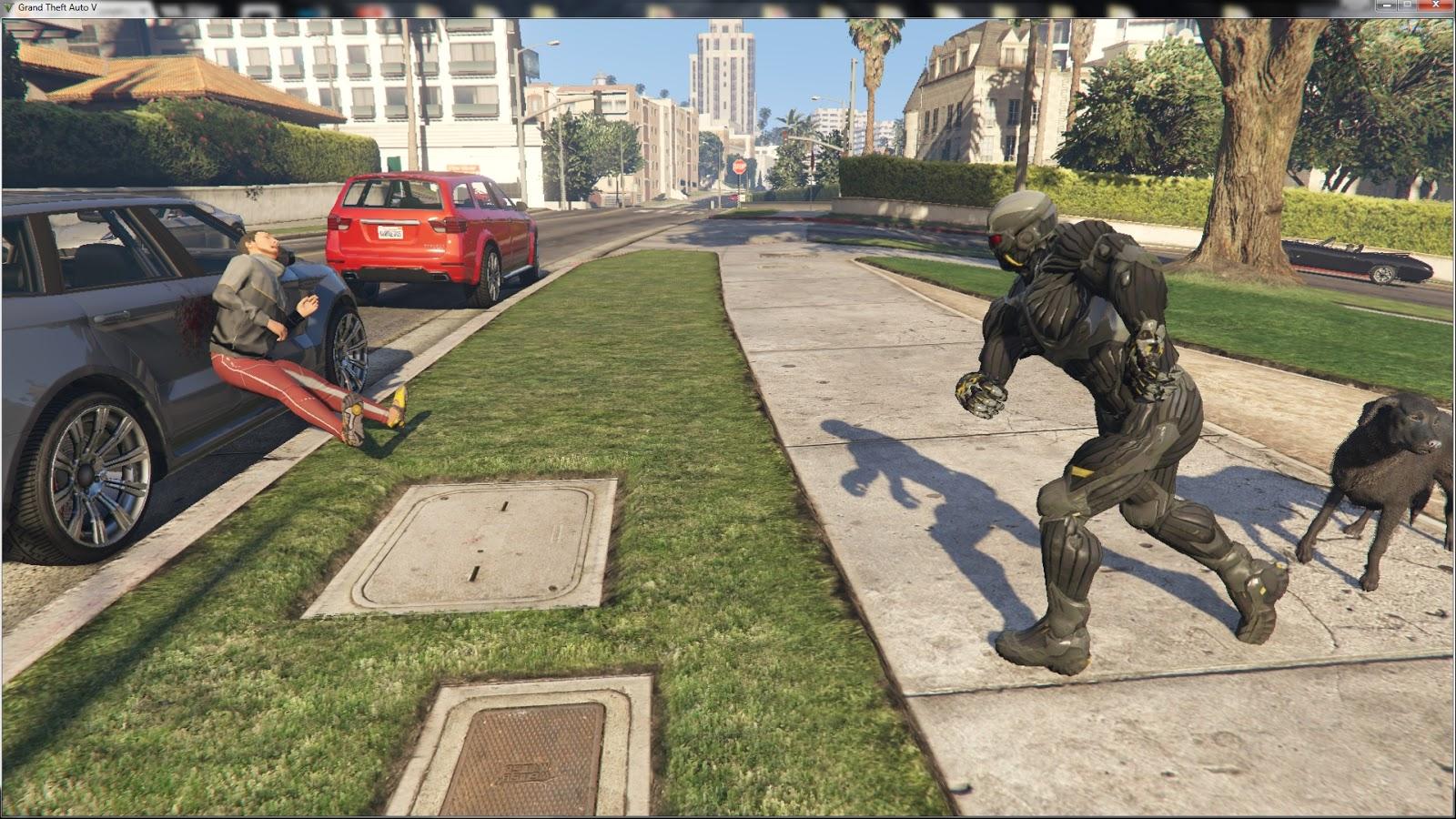 GTA V - Crysis script mod для GTA V - Скриншот 1