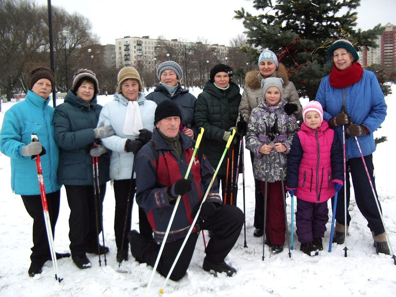 Новогодние старты. 10 января 2017 года парк Турку. Группа Скандинавской ходьбы «Возрождение»