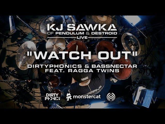 Dirtyphonics Bassnectar - Watch Out (feat. Ragga Twins) [KJ Sawka Drum Cover]