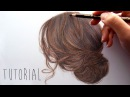 How to draw a realistic brown hair updo Step by Step Drawing Tutorial