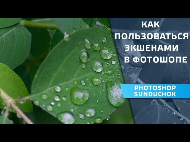 Как пользоваться экшенами в фотошопе | Учимся работать с экшенами
