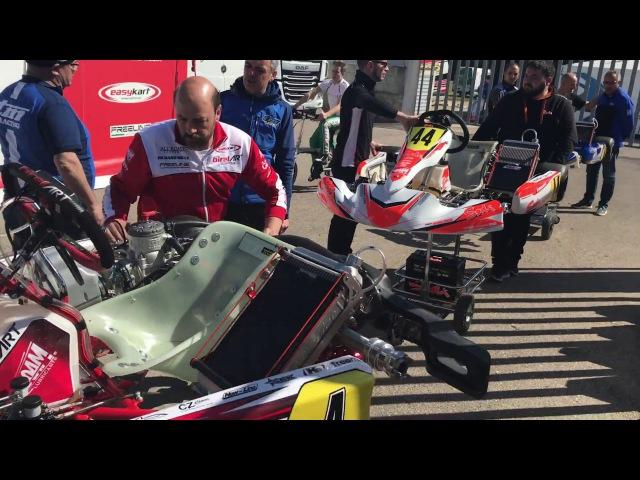 Warm Up Engines, WSK Super Master Series Round 3, La Conca