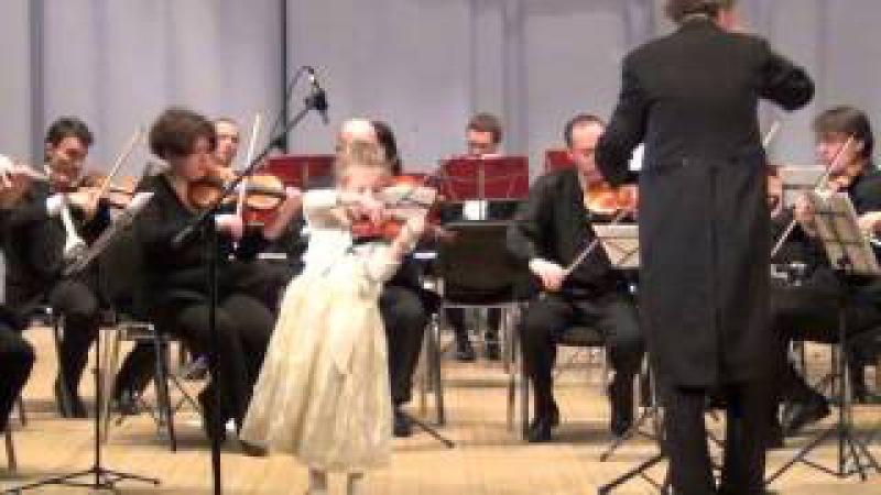 Оскар Ридинг, Концерт оп.35. Скрипка с оркестром. Скрипачка 5 лет.