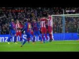 Lionel Messi Unlucky AMAZING Free Kick - Barcelona vs Atletico Madrid 1-0 - Copa del Rey 7/2/2017 HD