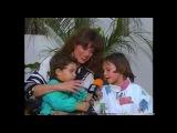 Lucia Mendez con su hijo Pedro Antonio y su hermanita Apolonia (Feliz D