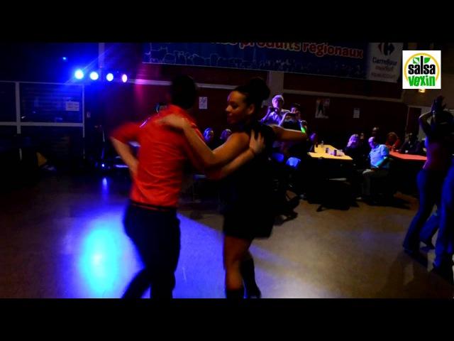 Yunaisy Farray Danger Rodríguez dancing Baile Social