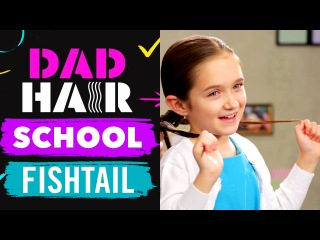 Making a Jagged Edge Fishtail Braid with Phil Morgese   Dad Hair School