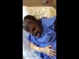 Надела маску Чубаки во время родов