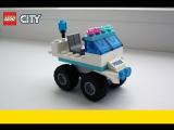 Полицейская машина из 30 деталей Лего