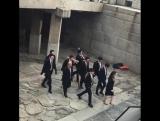 170213 | Ховон на съёмках дорамы MBC «Glowing Office»